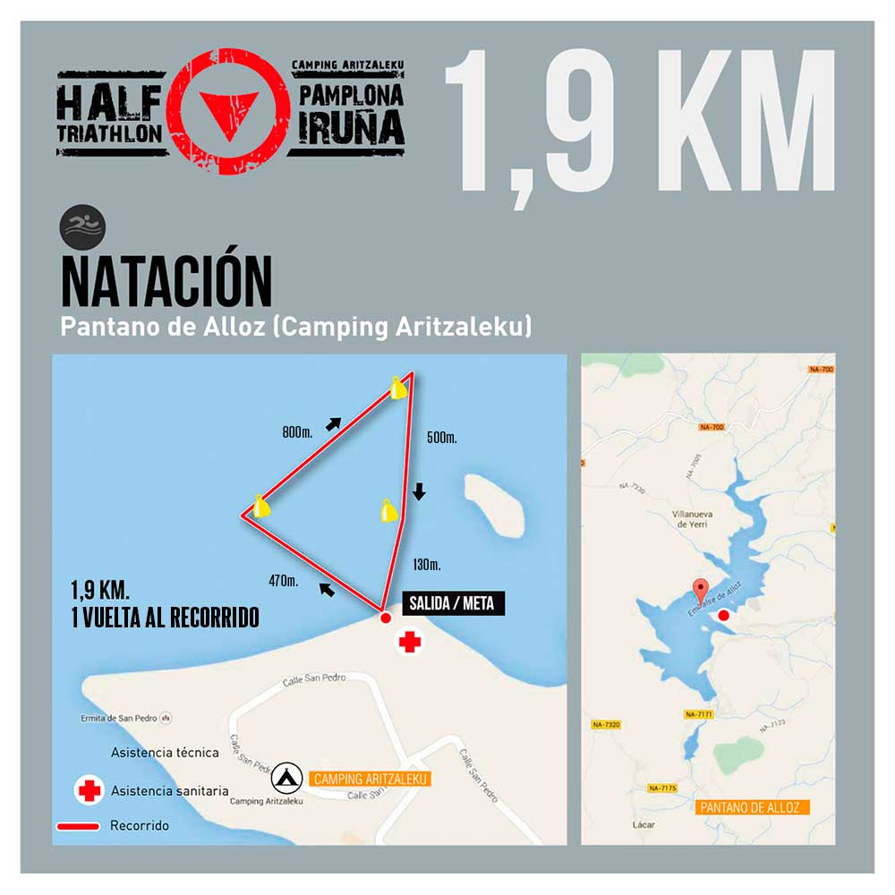 Recorrido Natación Half Pamplona Triathlon